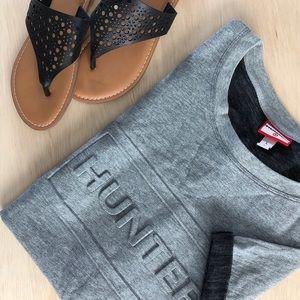 Hunter Target Sweatshirt Large Gray Top Shirt New